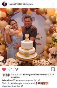 Primeira dama do Estado anuncia nas redes sociais que está grávida 1