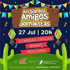 Sindicato dos Jornalistas prepara Arraial Julino gratuito neste sábado (27)