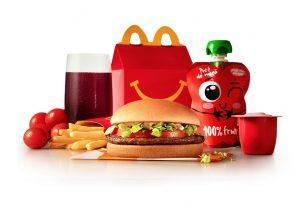 McDonald's evolui cardápio do McLanche Feliz para oferecer combinações mais nutritivas
