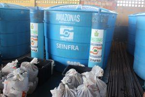 Iranduba recebe ajuda humanitária e purificadores de água da Defesa Civil do Estado