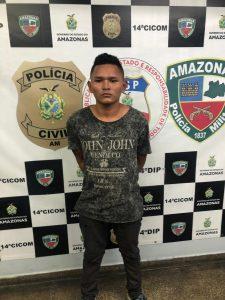Policiais militares da 11ª Companhia Interativa Comunitária detêm suspeito de furto no Coroado III