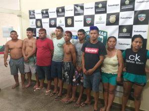 Grupo criminoso é preso com armas e drogas em Tabatinga, no AM