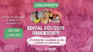 FPS lança edital de R$ 5 milhões para seleção de projetos sociais no Amazonas