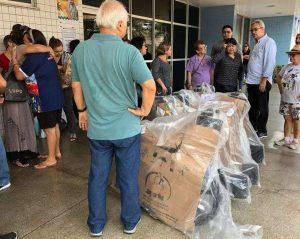 FCecon recebe doação de cadeiras de rodas em Manaus