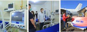 Coari recebe respiradores e equipamentos para novos leitos de UCI no Hospital Regional