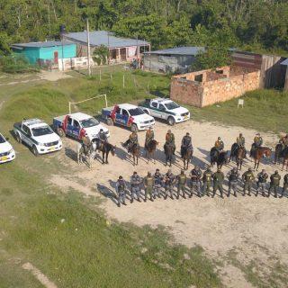 Polícia Militar e Polícia Nacional da Colômbia realizam operação conjunta em Tabatinga e Leticia.