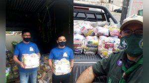 Escoteiros arrecadam alimentos para famílias vítimas da Covid-19 em Manaus