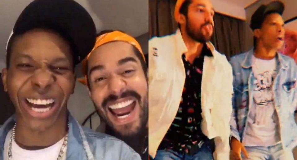 Lucas e Arcrebiano comemoram rejeição de Nego Di em live patrocinada