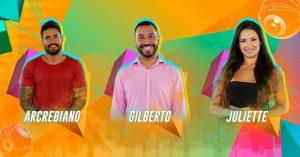 Arcrebiano x Gilberto x Juliette : entenda como foi formado o segundo Paredão do 'BBB21'