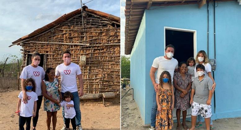 Wesley Safadão entrega casa mobiliada à família carente