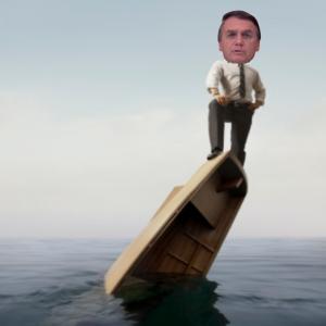 O barco do capitão Bolsonaro está afundando…
