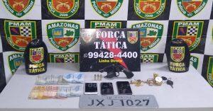 Força Tática detém quatro homens por posse ilegal de arma de fogo
