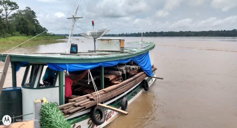 Cinco metros cúbicos de madeira ilegal são apreendidos no AM