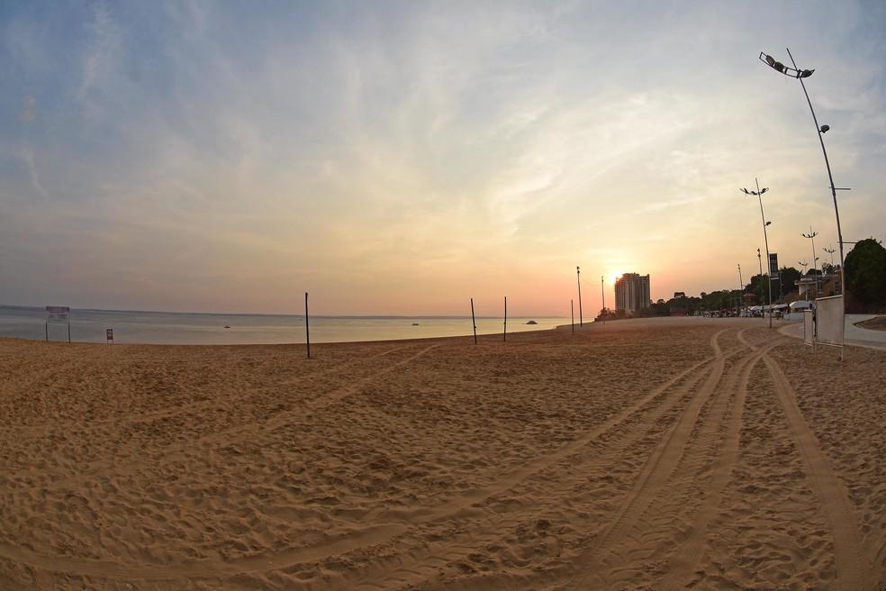 Interdição da Praia de Ponta Negra, em Manaus, é prorrogada até 30 de abril