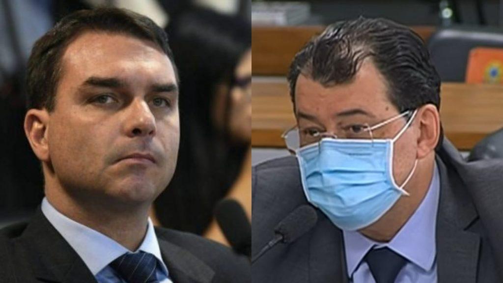 Flávio Bolsonaro critica Eduardo Braga e diz que ele foi tendencioso ao indicar nomes da CPI da Covid