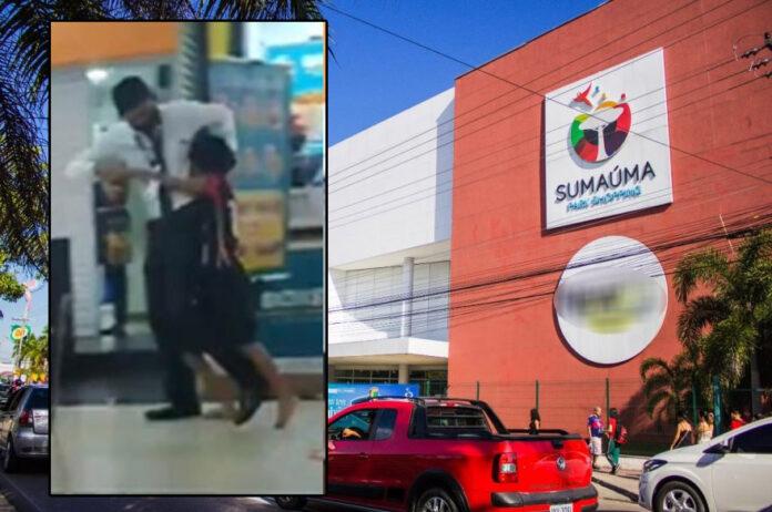 Shopping Sumaúma demite segurança que arrastou mulher