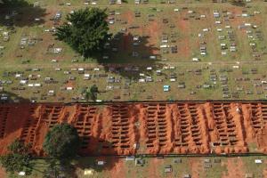 Pandemia acelera e Brasil atinge marca de 400 mil mortes pela Covid-19